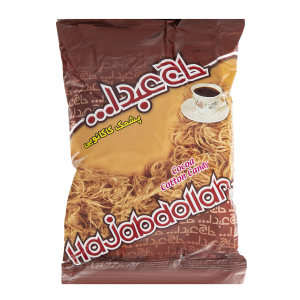 پشمک کاکائویی حاج عبدالله مقدار 350 گرم