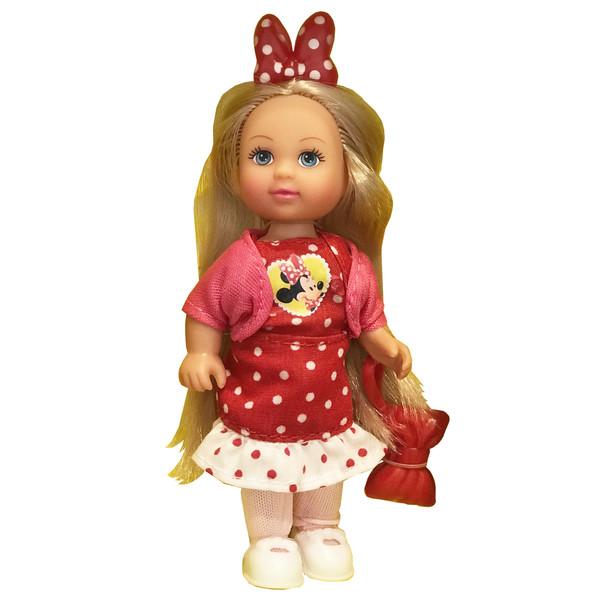 عروسک سیمبا مدل Evi Love Pink Coat ارتفاع 12 سانتی متر