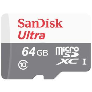 کارت حافظه microSDXC سن دیسک مدل Ultra کلاس 10 استاندارد UHS-I U1 سرعت 100MBps ظرفیت 64 گیگابایت