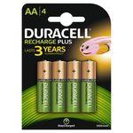 باتری قلمی قابل شارژ دوراسل مدل Recharge Plus بسته 4 عددی