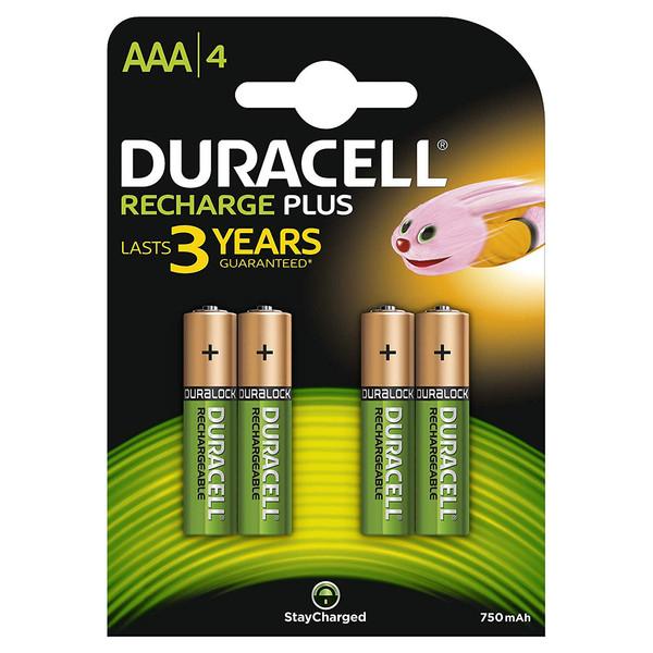 باتری نیم قلمی قابل شارژ دوراسل مدل Recharge Plus بسته 4 عددی