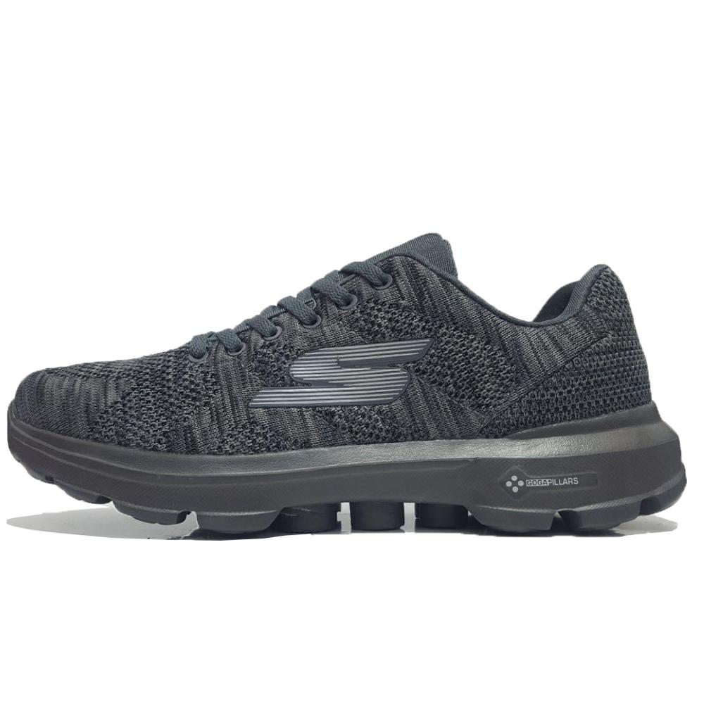 کفش مخصوص پیاده روی مردانه اسکچرز مدل GO WALK 3 PILARS-DARK/GREY