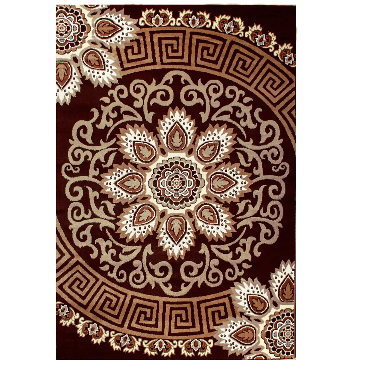 فرش ماشینی سهند کد SL27.XI زمینه قهوه ای