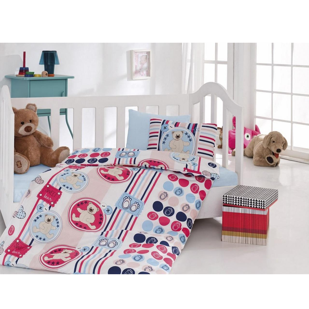 سرویس خواب 4 تکه کودک کاتن باکس  مدل Eyelash Beige | Cotton Box Eyelash Beige Child Bedsheet Set 1 Person 4 Pcs