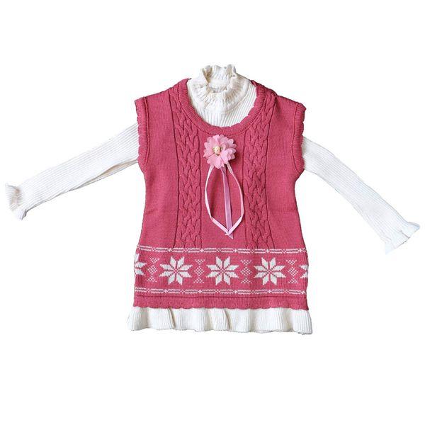 پیراهن دخترانه مدل Pink Flower