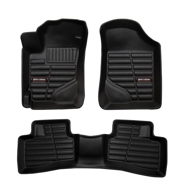 کفپوش سه بعدی خودرو لاستیک گیلان مدل kc مناسب برای کیا سراتو