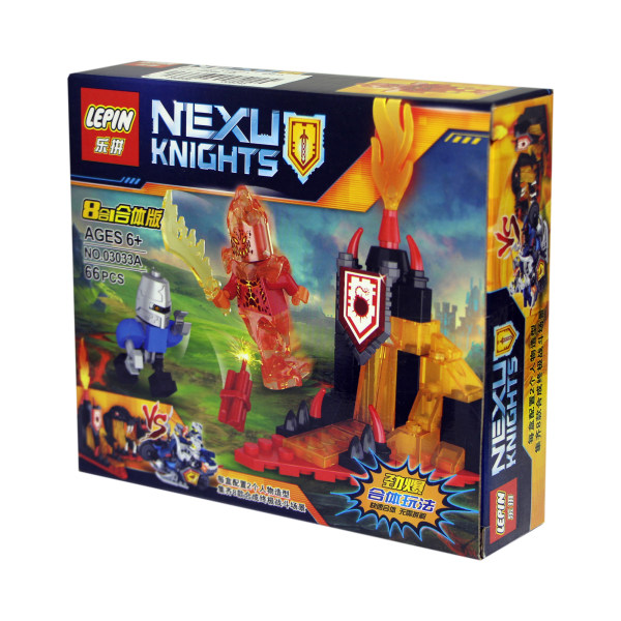 ساختنی لپین مدل Nexu Knights 03033A