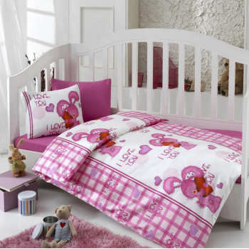 سرویس خواب 4 تکه کودک کاتن باکس  مدل  My Pink Pink World | Cotton Box My Pink Pink World Child Bedsheet Set 1 Person 4 Pcs
