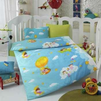 سرویس خواب 4 تکه کودک کاتن باکس  مدل  blue dream | Cotton Box blue dream Child Bedsheet Set 1 Person 4 Pc
