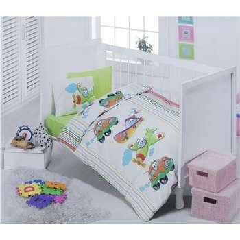 سرویس خواب 4 تکه کودک کاتن باکس  مدل  Vehicle | Cotton Box Vehicle Child Bedsheet Set 1 Person 4 Pcs