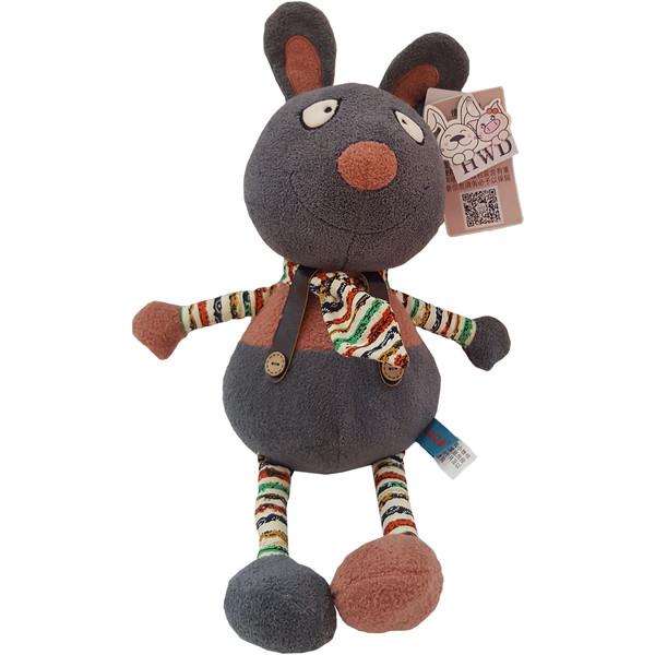 عروسک اچ دبلیو دی طرح خرگوش کراواتی ارتفاع ۴۰ سانتی متر