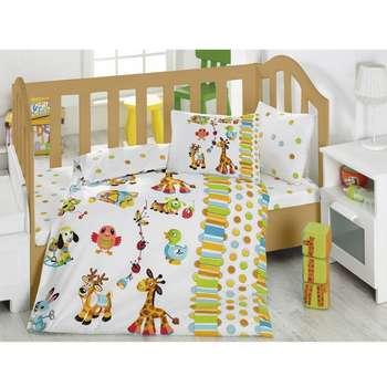 سرویس خواب 4 تکه کودک کاتن باکس  مدل  Playground Turquoise | Cotton Box Playground Turquoise Child Bedsheet Set 1 Person 4 Pcs