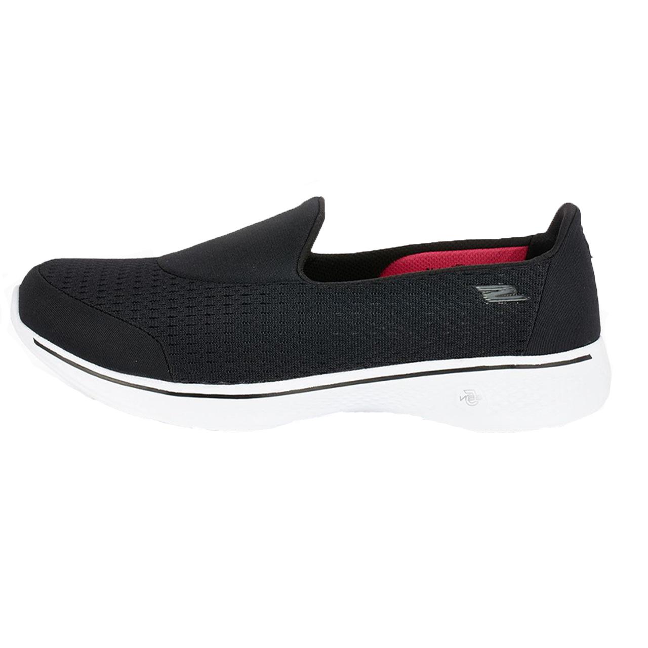 کفش راحتی زنانه اسکچرز مدل  Go Walk 4 bkw