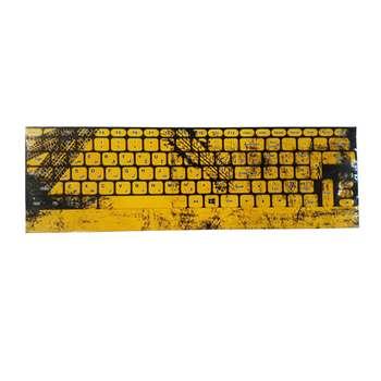 برچسب حروف فارسی کیبورد طرح yellow