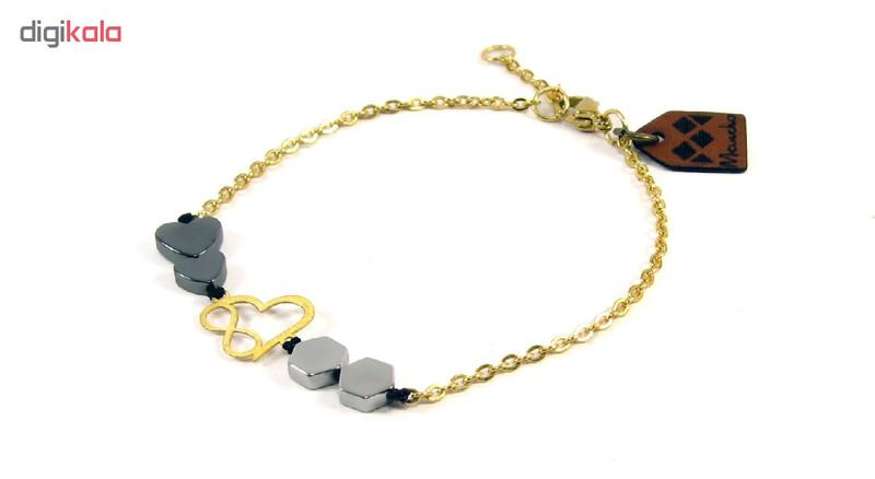 دستبند طلا 18عیار مانچو مدل bfg085