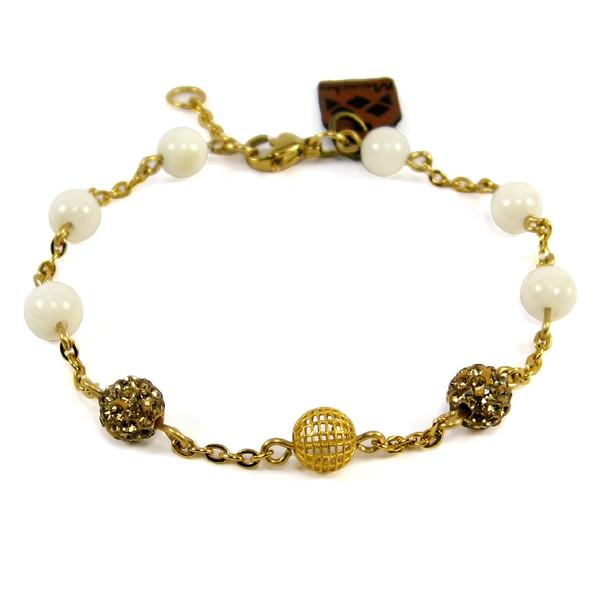 دستبند طلا 18عیار مانچو مدل bfg087