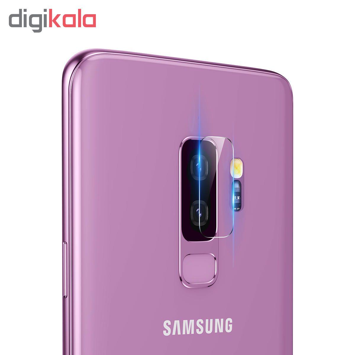 محافظ صفحه نمایش اسپایدر مدل Super Hard 5D مناسب برای گوشی سامسونگ galaxy S9 Plus به همراه محافظ لنز دوربین main 1 6
