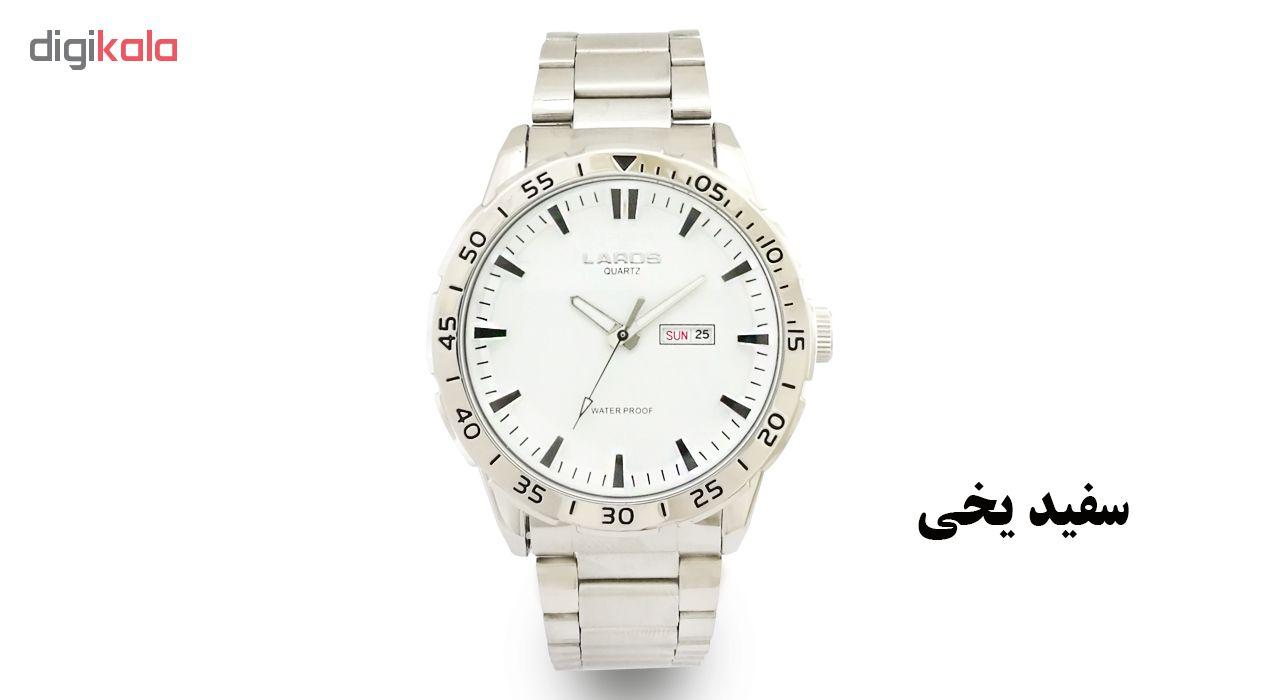 خرید ساعت مچی عقربه ای مردانه لاروس مدل 0817-79943-DD به همراه دستمال مخصوص برند کلین واچ