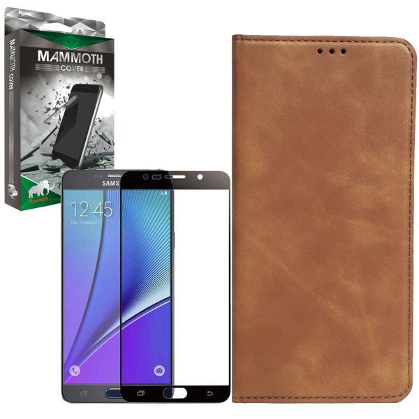 کیف کلاسوری ماموت مدل KLSR مناسب برای گوشی موبایل سامسونگ Galaxy Note 5 به همراه محافظ صفحه نمایش