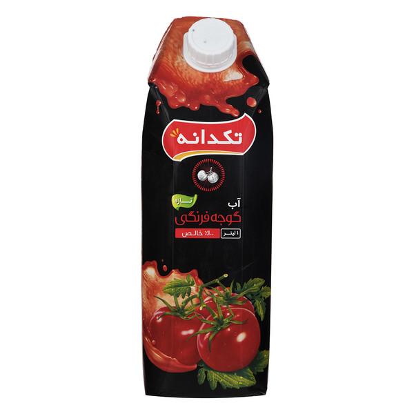 آب گوجه فرنگی تکدانه حجم 1 لیتر