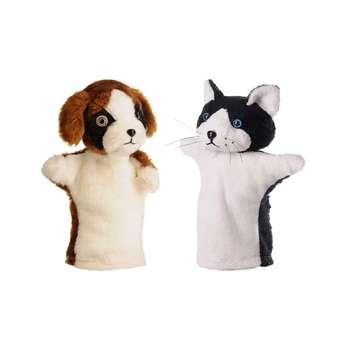 عروسک نمایشی مدل گربه و سگ مجموعه 2 عددی