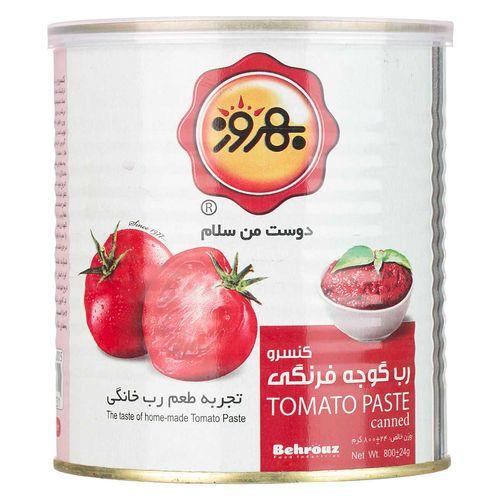 کنسرو رب گوجه فرنگی بهروز مقدار 800 گرم