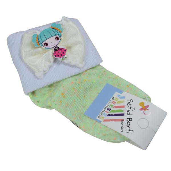 جوراب بچه گانه سفید برفی مدل Toy-Pesteh