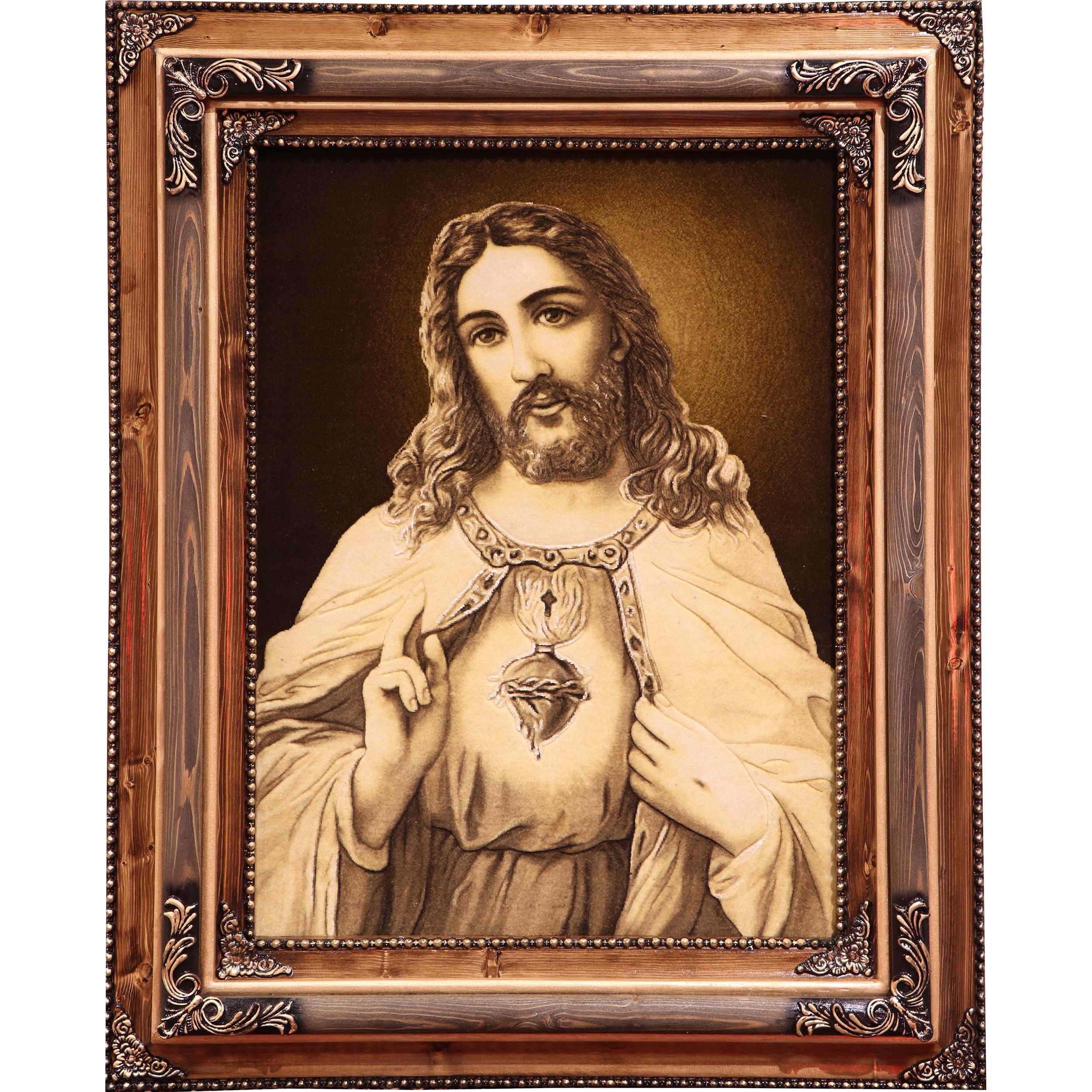 تابلو فرش دستباف آنافرش حضرت عیسی کد 11345