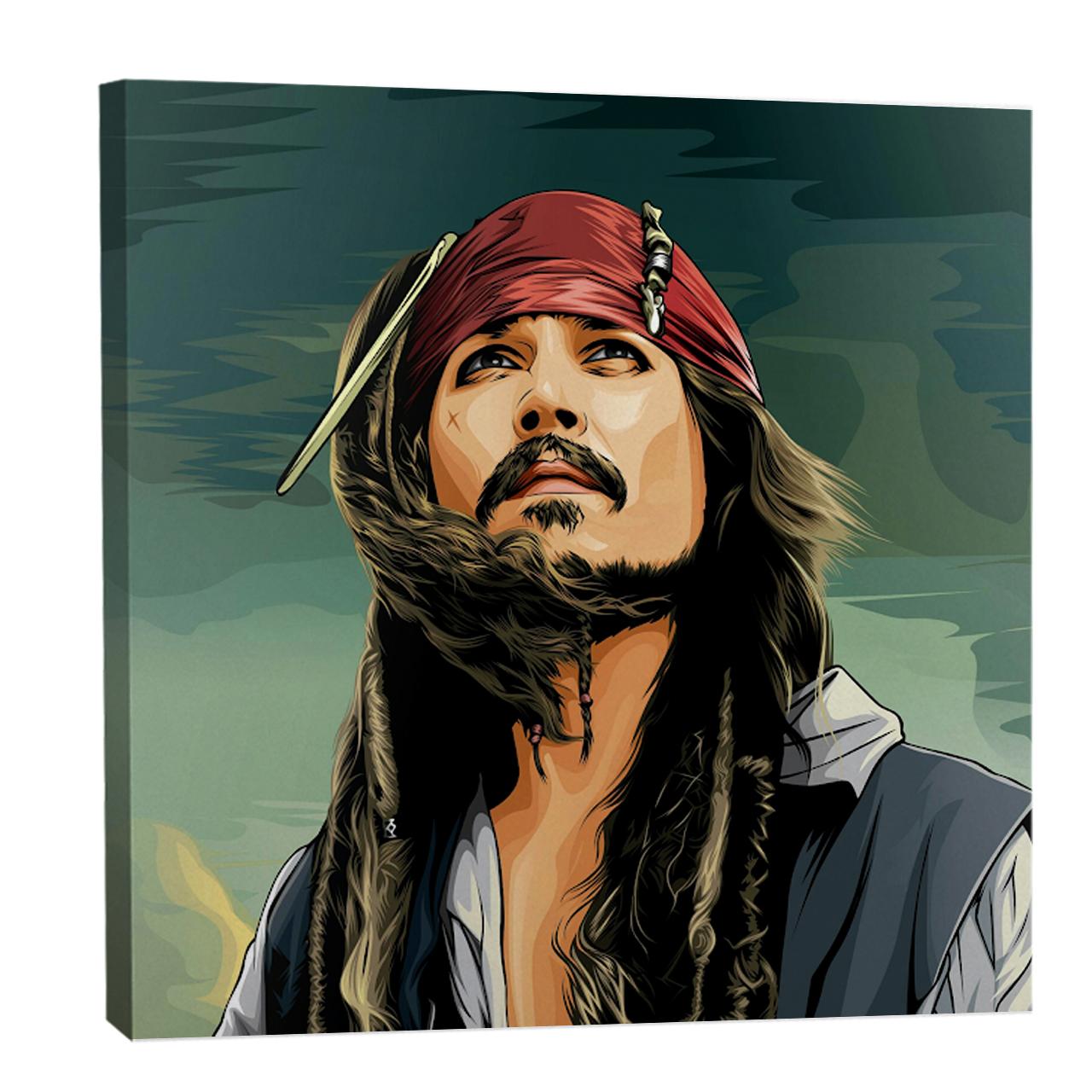 تابلو بوم  فلوریزا  طرح جانی دپ و جک اسپرو در دزدان دریایی کاراییب کد JOHNNY DEPP 001