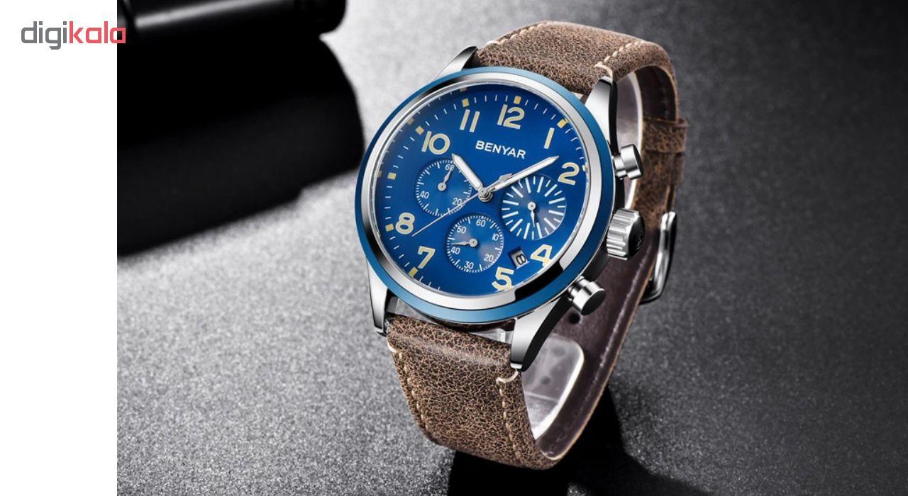 خرید ساعت مچی عقربه ای مردانه بنیار مدل 5138A