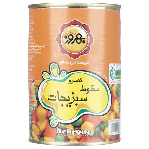 کنسرو مخلوط سبزیجات بهروز مقدار 410 گرم