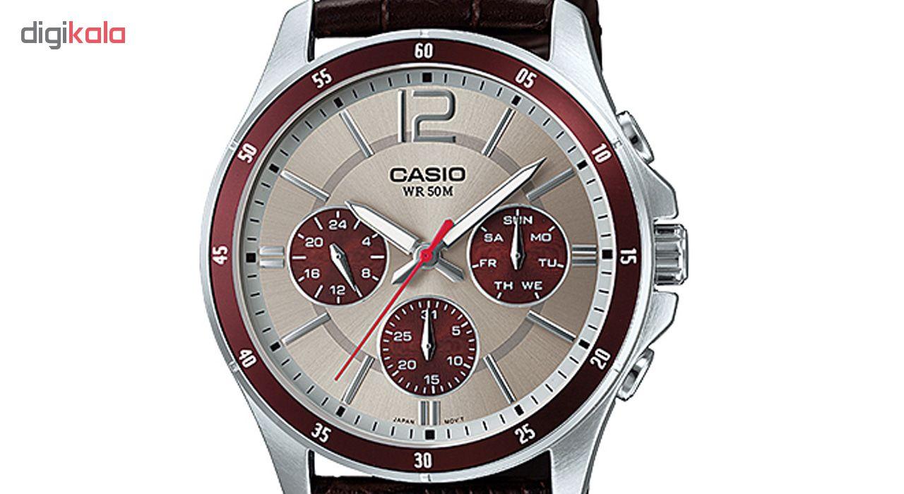 خرید ساعت مچی عقربه ای مردانه کاسیو مدل MTP-1374L-7A1VDF
