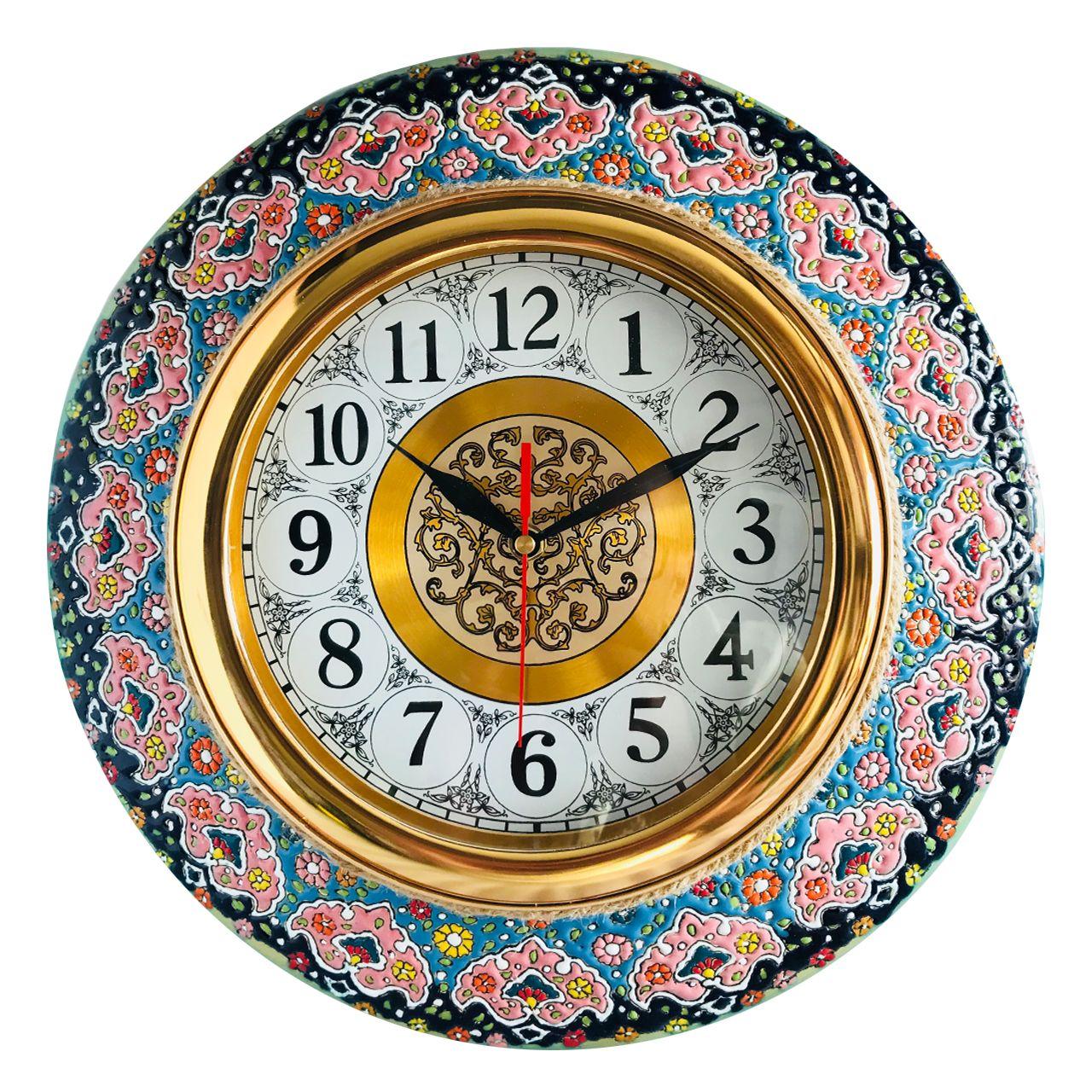 ساعت دیواری میناکاری مدل 1269