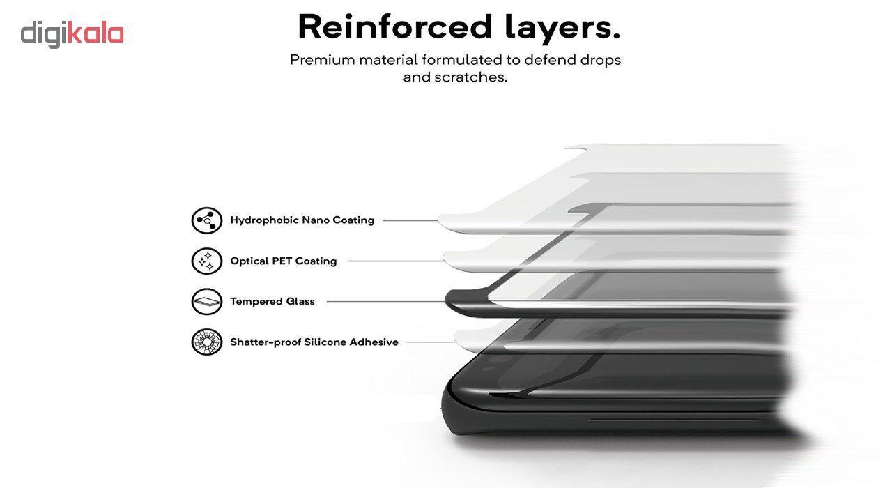 محافظ صفحه نمایش اسپایدر مدل Super Hard 5D مناسب برای گوشی سامسونگ galaxy S9 Plus به همراه محافظ لنز دوربین main 1 3