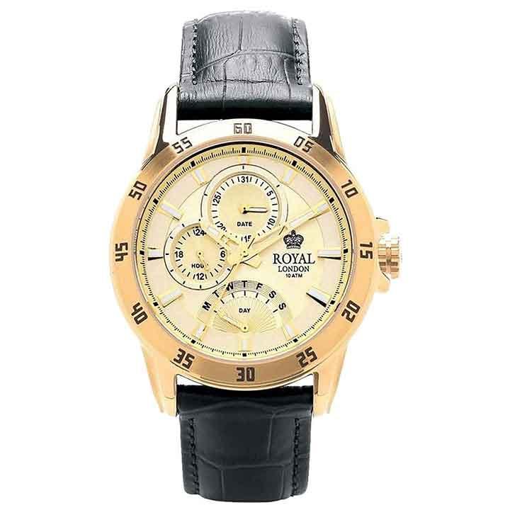 کد تخفیف                                      ساعت مچی عقربه ای مردانه رویال لندن مدل RL-41043-03