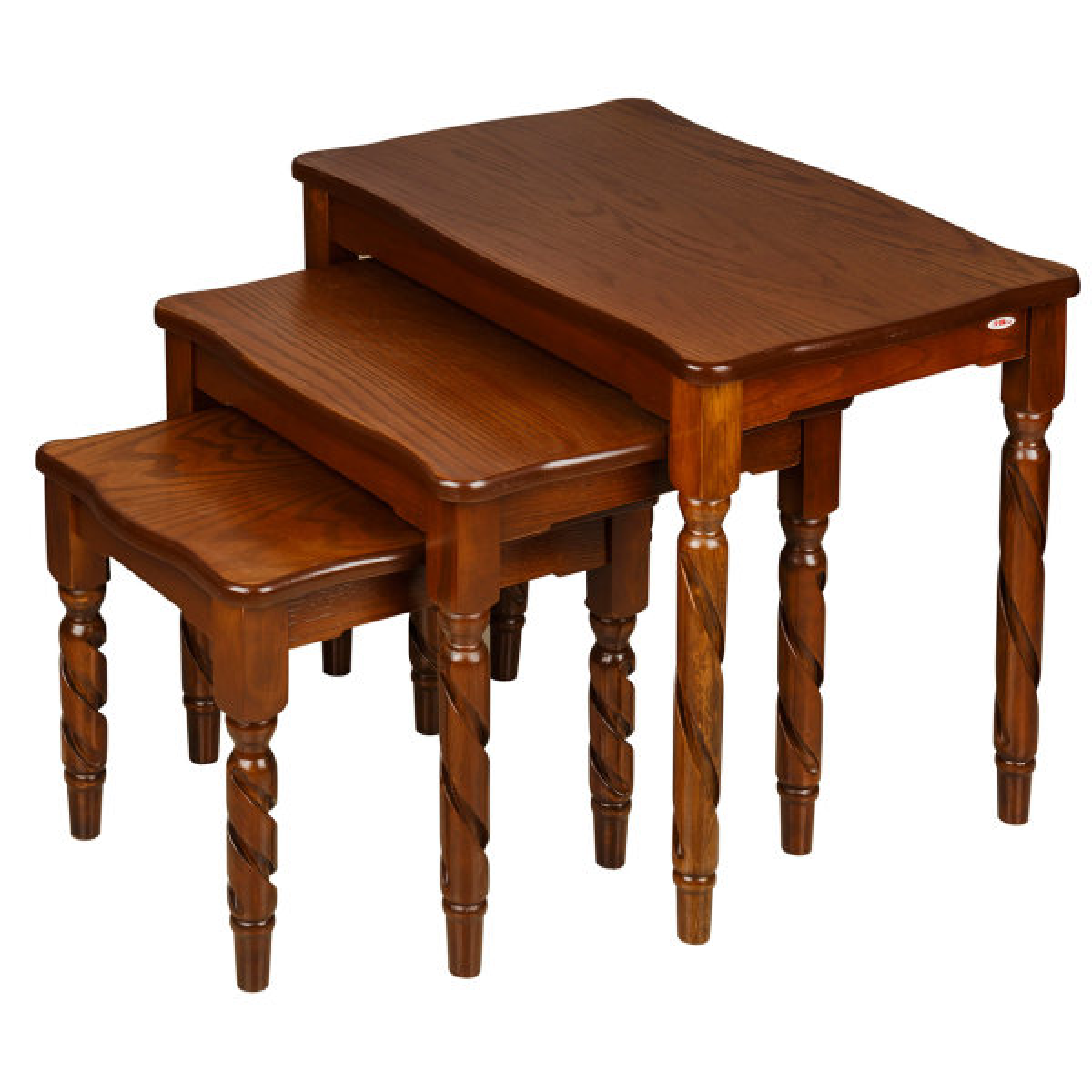 میز عسلی چشمه نور کد D-111 مجموعه 3 عددی