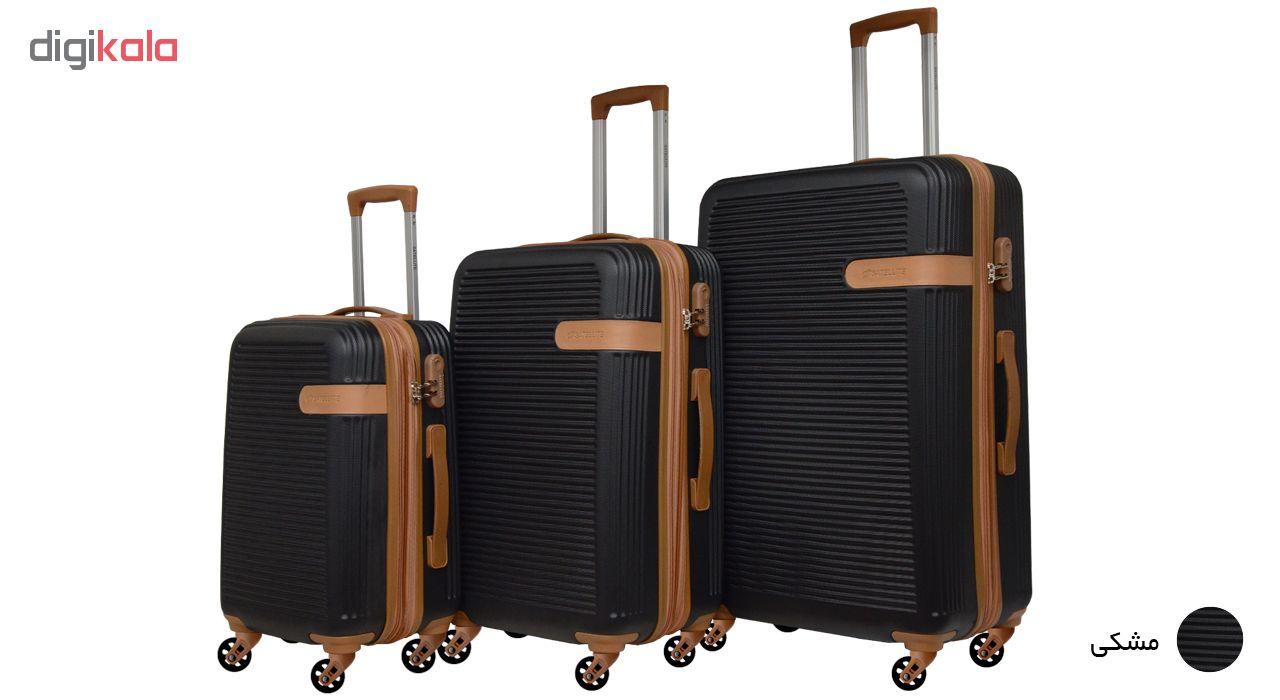مجموعه سه عددی چمدان ستلایت مدل 0066