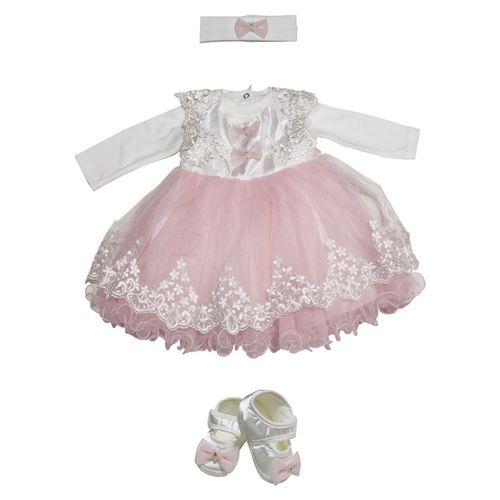 ست لباس نوزادی دخترانه مدل 4592P