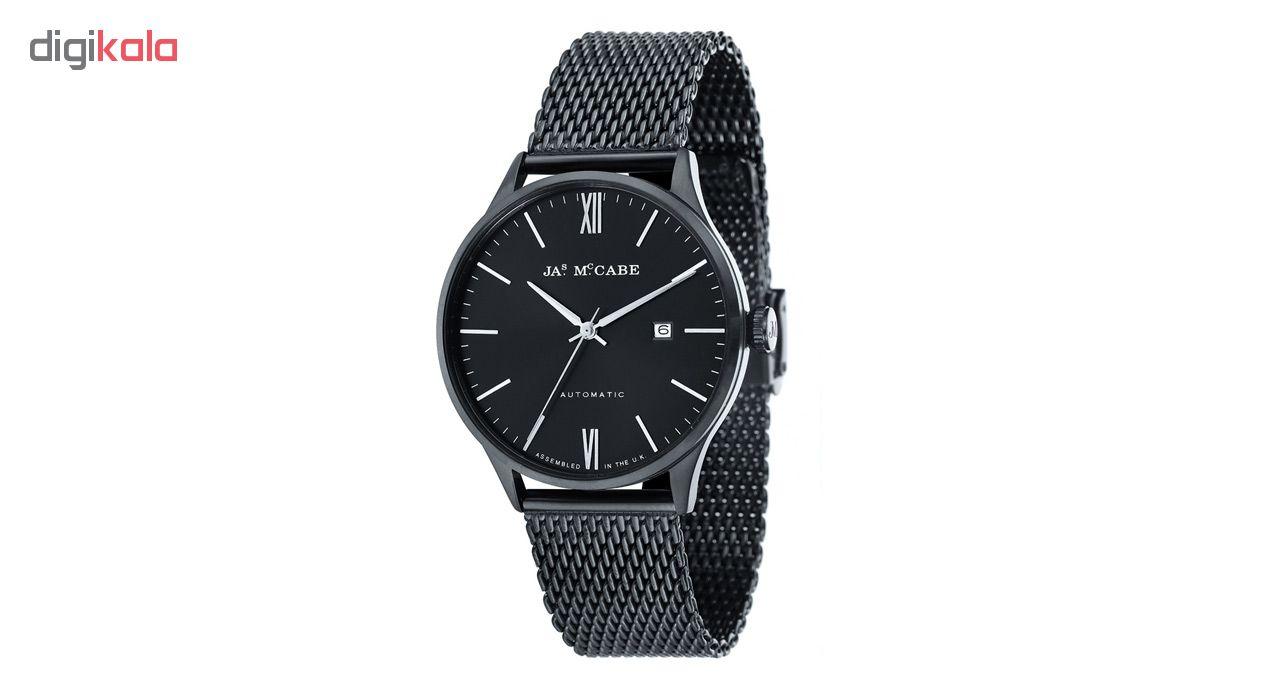 ساعت مچی عقربه ای مردانه جیمز مک کیب مدل JM-1025-BB