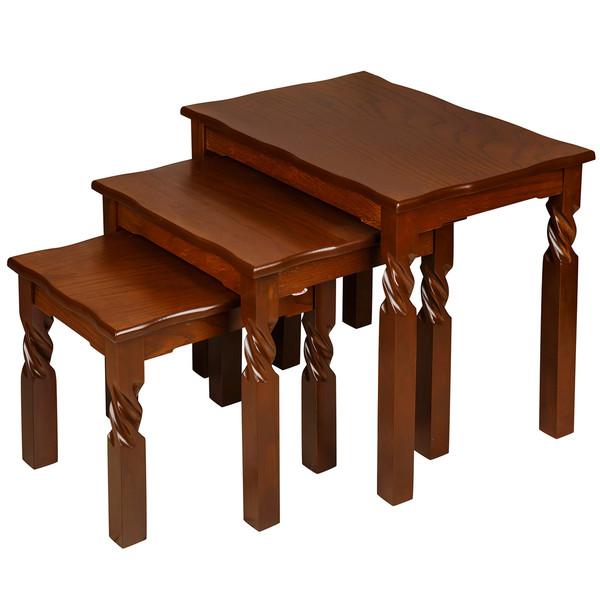 میز عسلی چشمه نور کد D-113 مجموعه 3 عددی