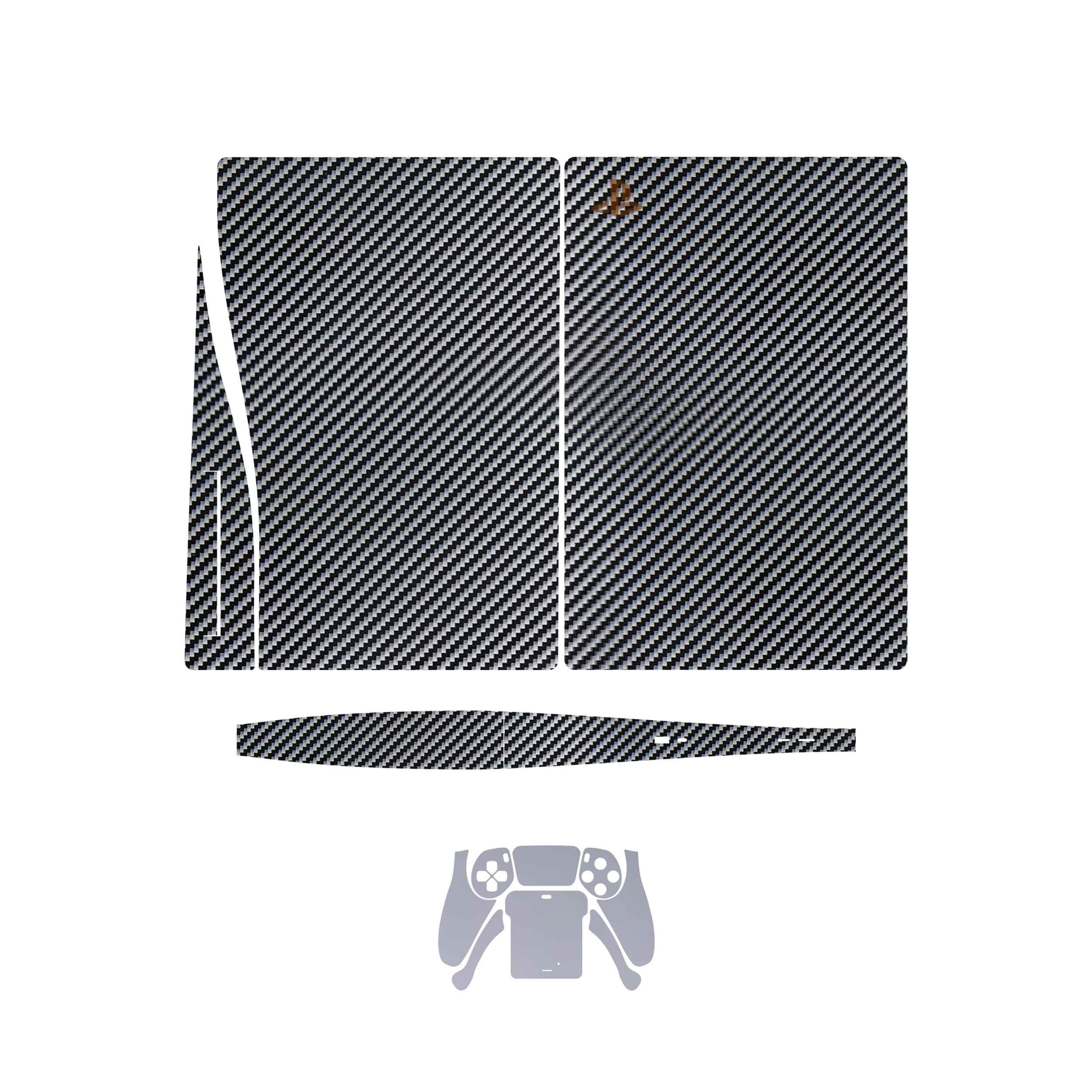 بررسی و {خرید با تخفیف}                                     برچسب کنسول و دسته بازی PS5 ماهوتمدل Glossy_Silver_Carbon_Matte_Silver                             اصل