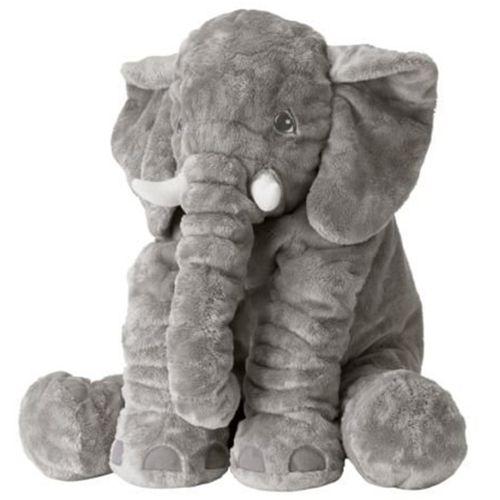 عروسک فیل بالشتی مدل Baby Elephant ارتفاع 50 سانتی متر به همراه عروسک فیل نمایشی