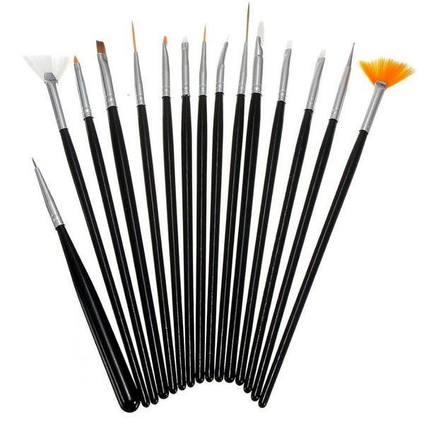 قلم طراحی ناخن مدل 74402 مجموعه 15 عددی