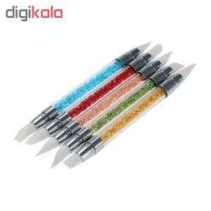 قلم طراحی ناخن سیلیکونی مدل 74406 مجموعه 5 عددی