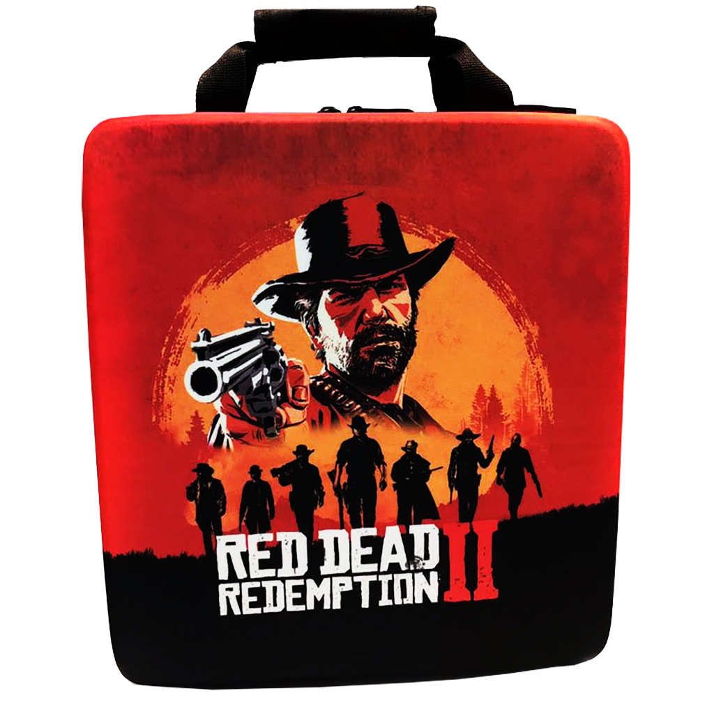 عکس کیف حمل پلی استیشن 4 Pro طرح red dead 2