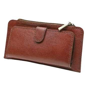 کیف پول چرم دست دوز زیپ دار کد C-271 |