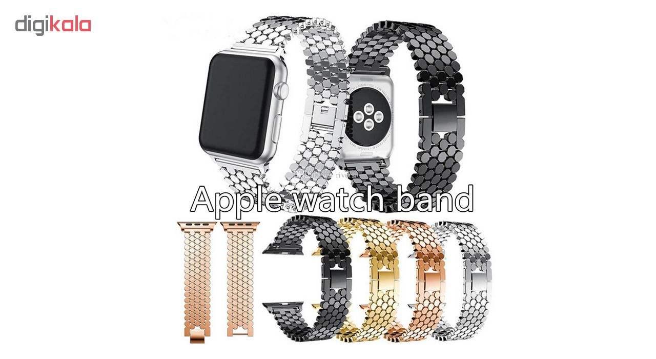 بند فلزی مدل Ajmei مناسب برای اپل واچ 42 و 44 میلیمتری main 1 3