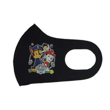 ماسک تزیینی صورت بچگانه طرح سگهای نگهبان کد 30702 رنگ مشکی