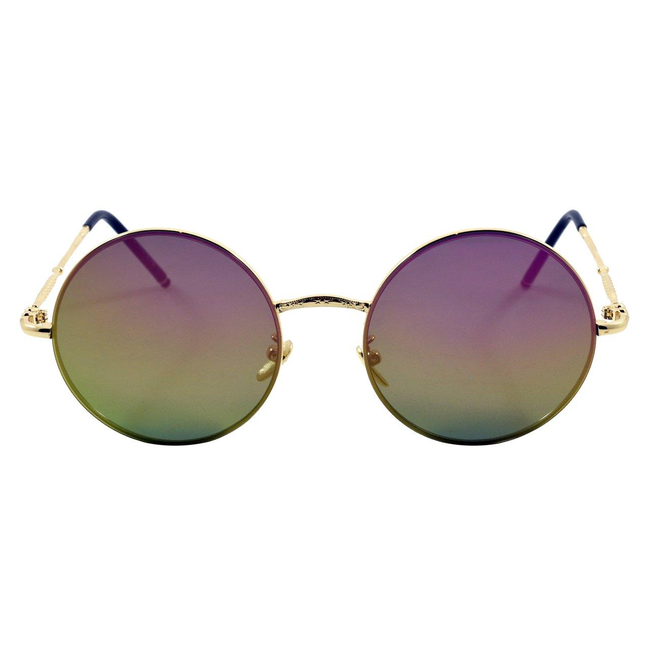 عینک آفتابی ویلی بولو مدل Multi Color Round Metal