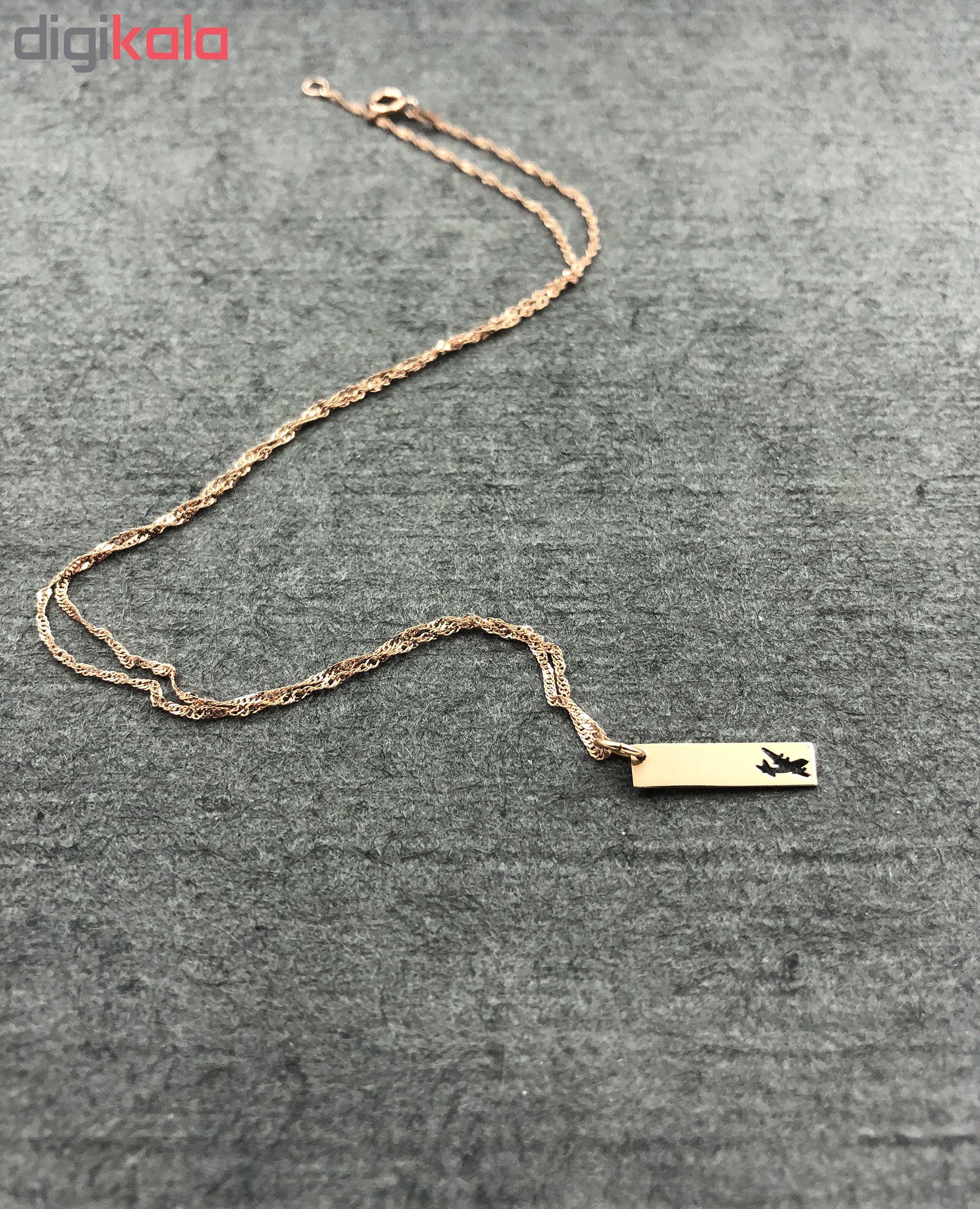 گردنبند طلا 18 عیار گیرا گالری مدل G101
